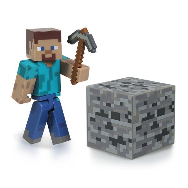 Фигурка Minecraft Игрок Steve, с аксессуарами16501Фигурка Minecraft Игрок Steve станет прекрасным подарком для поклонника популярной инди-игры Minecraft. Она выполнена из прочного пластика в виде Steve. Голова, руки и ноги фигурки подвижны, что позволит придавать ей различные позы. В комплект входят кубик земли и кирка. Ваш ребенок будет часами играть с этой фигуркой, придумывая различные истории. Порадуйте его таким замечательным подарком! Minecraft - инди-игра в жанре песочницы с элементами выживания. мир игры полностью состоит из блоков: игрок, ландшафт, предметы, мобы и т.д. Игрок управляет персонажем, который может разрушать и устанавливать блоки, формируя фантастические структуры, здания и художественные работы в одиночку или коллективно с другими игроками в разных игровых режимах.