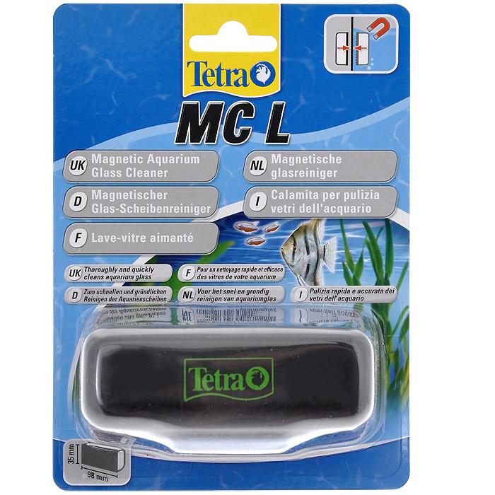 Скребок для аквариума Tetra MC L магнитный239333Магнитный скребок для аквариума Tetra предназначен для быстрой и тщательной очистки стекол аквариума от налета и обрастаний. Для аквариумов с толщиной стекла до 10 мм. Скошенные кромки скребка не повреждают силиконовые швы аквариума, не оставляет царапин на стекле. Удобная эргономичная ручка. Подходит для аквариумов с пресной и морской водой. Рабочая поверхность скребка 9,8 см х 3,5 см.