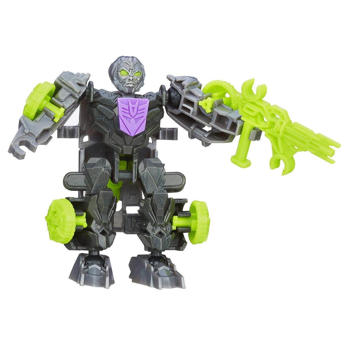 Transformers Констракт-Боты Наездники: LOCKDOWNA6150_2Конструктор Transformers Констракт-Боты Наездники: LOCKDOWN понравится вашему маленькому поклоннику Трансформеров и не позволит ему скучать. В комплект входят 18 ярких пластиковых элементов, с помощью которых можно собрать фигурку десептикона Локдауна - персонажа фильма Трансформеры 4. Робот может трансформироваться в необычный автомобиль. Ваш ребенок часами будет занят игрой, придумывая разные истории. Порадуйте его таким замечательным подарком!