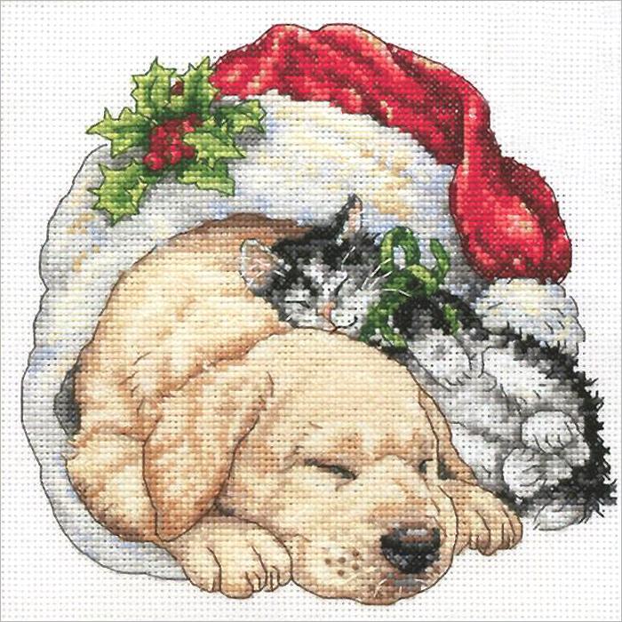 Набор для вышивания Dimensions Щенок и котенок рождественским утром, 15 см х 15 см640Красивый и стильный рисунок-вышивка, выполненный на канве, выглядит оригинально и всегда модно. В наборе для вышивания Щенок и котенок рождественским утром есть все необходимое для создания собственного чуда: хлопковое мулине разобранное по цветам, канва, игла и инструкция. Работа, сделанная своими руками, создаст особый уют и атмосферу в доме и долгие годы будет радовать Вас и Ваших близких. А подарок, выполненный собственноручно, станет самым ценным для друзей и знакомых. Элементы оформления в комплект не входят.