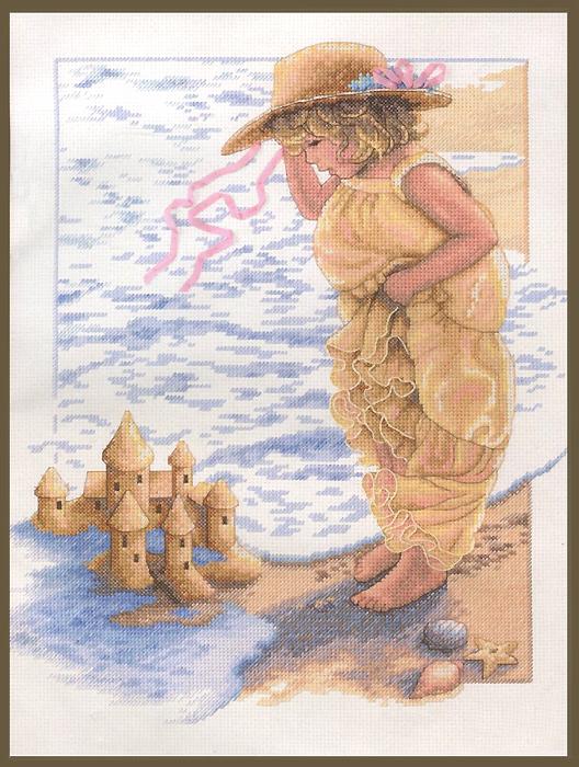 Набор для вышивания Dimensions Замки из песка, 28 х 36 см644661