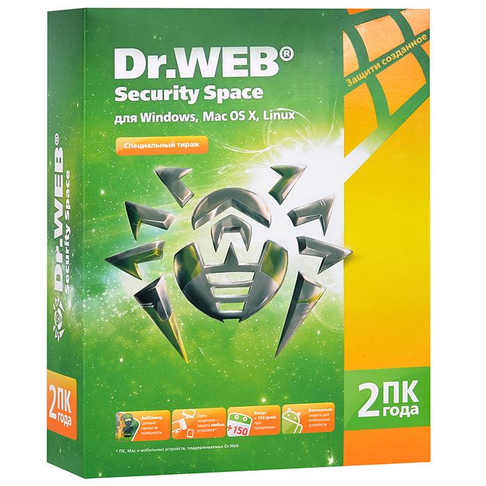 Dr.Web Security Space 2013 (2 ПК, 2 года)Dr.Web Security Space - комплексное решение для организации защиты системы пользователя от различного рода интернет угроз - вирусы, трояны, руткиты, фишинг, спам, а также мониторинг интернет трафика и защита от сетевых атак, защита детей от нежелательной информации (порнография, насилие, наркотики) и многое другое. Основные преимущества Dr.Web Security Space: Dr.web Security Space полностью совместим с новейшей операционной - Microsoft Windows 8. Комплексное решение проблем по организации защиты системы, в том числе от различных интернет угроз. Защита в режиме онлайн. Один из лучших показателей в отрасли по лечению активных заражений. Возможность установки Security Space прямо на зараженную машину. Достижение высокой скорости сканирования за счет использования возможностей многопроцессорных систем. Уникальная технология Dr.web для блокировки не известных угроз. Полная проверка архивов вне зависимости от уровня вложенности. ...