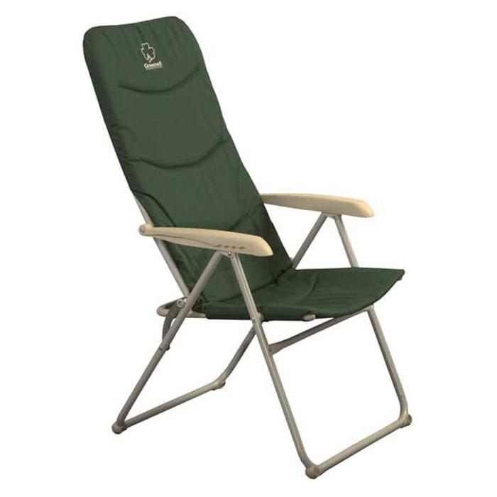 Кресло складное Greenell FC-971091-303-00Складное кемпинговое кресло Greenell с мягким сиденьем и удобными подлокотниками станет незаменимым предметом в походе, на природе, на рыбалке, а также на даче. Кресло имеет прочный металлический каркас и покрытие из текстиля, оно легко собирается и разбирается и не занимает много места, поэтому подходит для транспортировки и хранения дома. Также кресло имеет регулировку наклона спинки. Сиденье и спина дополнительно утеплены пенкой. Размеры спинки кресла: 80 см х 50 см. Размеры сидушки: 38 см х 50 см.