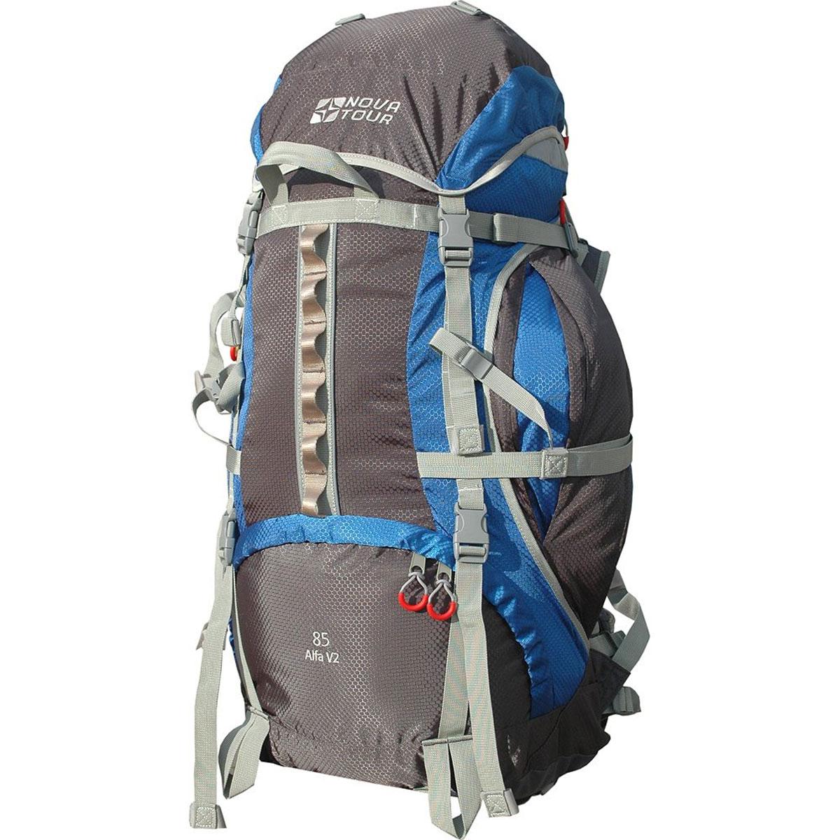 Рюкзак Nova Tour Альфа 85 V2, цвет: серый, синий. 95312-463-0095312-463-00Если вам нравится прыгать с камня на камень или двигаться по узкой горной тропе - этот рюкзак с усиленны- ми стропами специально для вас. Ваша спина будет благодарна за правильно распределяющую вес на плечи и пояс и уменьшающую нагрузку на позвоночник подвесную систему. Теперь доступ к нужным в дневном переходе вещам стал проще благодаря двум вместительным боковым карманам. Если их мало, то на дне рюкзака имеется удобное крепление для габаритных вещей (палатки). Для большего удобства крепления горного инвентаря разработана новая система навески. Если нужно что-то достать со дна рюкзака воспользуйтесь удобным нижним входом. В горах погода переменчива, может внезапно пойти дождь, но вещи всегда будут оставаться сухими, с идущим в комплекте гермочехлом в потайном кармане, на дне рюкзака. На концах боковых стяжек имеются липучки для закрепления излишков стропы. Особенности: Подвеска: ABS V2; Ткань: Poly Oxford 600D PU RipStop; Защитный чехол; ...
