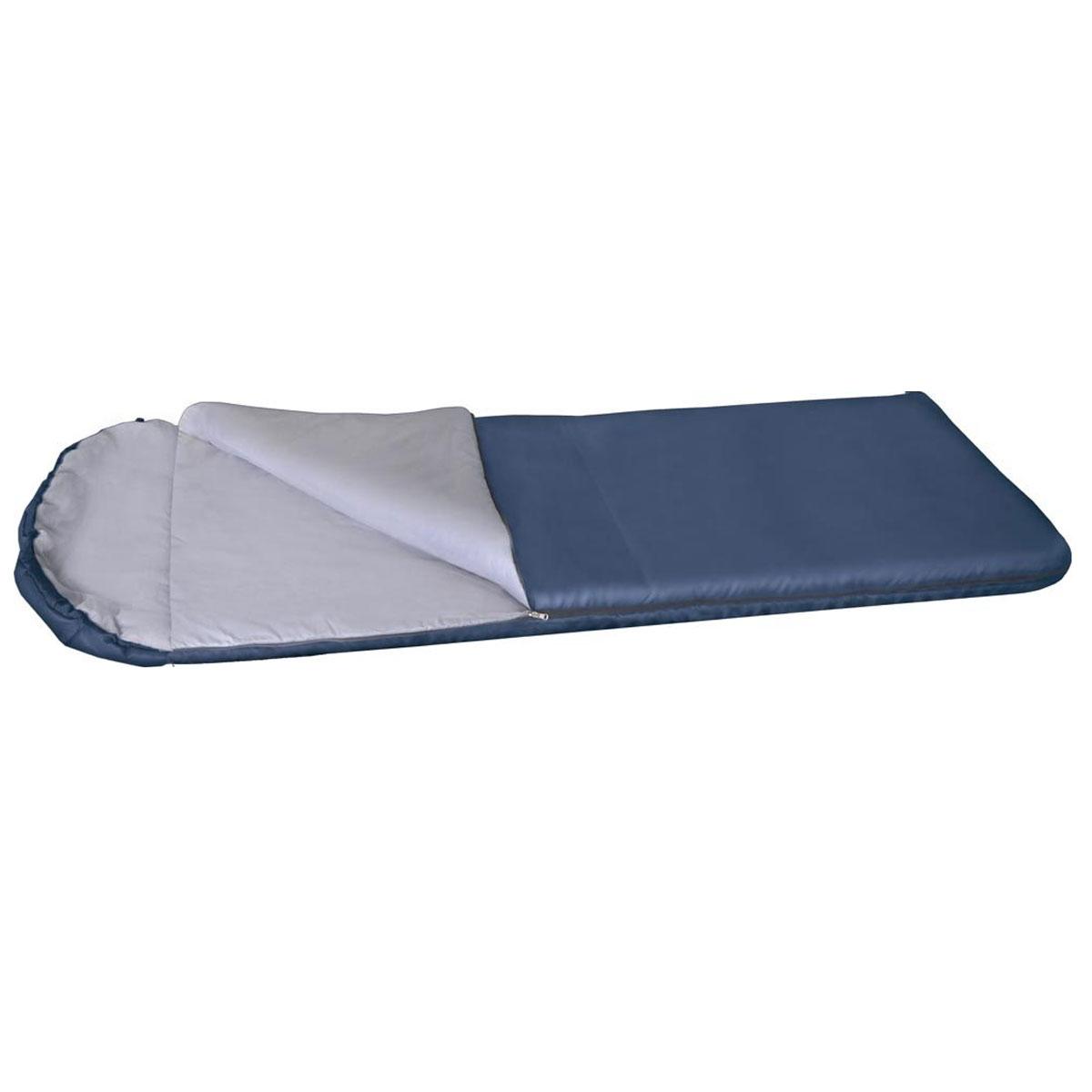 Спальный мешок-одеяло Alaska Одеяло с подголовником +10 °С, цвет: синий, левосторонняя молния. 95253-405-0095253-405-00Недорогой спальный мешок Alaska Одеяло с подголовником +10 займет очень немного места в багажнике вашего авто, выручит на даче, в летнем походе выходного дня и в городской квартире в качестве дополнительного утепляющего слоя во время ожидания начала отопительного сезона. Простой и максимально практичный спальник Alaska Одеяло с подголовником +10 имеет аномально низкую стоимость! Даже трудно представить себе качественный спальный мешок дешевле! Однако спальник Одеяло с подголовником +10 обладает всеми необходимыми свойствами для обеспечения комфортного отдыха в теплое время года - это облегченный вес, разъемная молния, что позволяет соединять два однотипных спальника вместе и удобный подголовник, который с помощью встроенного шнура легко превращаются в теплый капюшон. Благодаря простоте конструкции, спальные мешки легко превращаются в двух спальные одеяла, которые можно использовать не только на природе, но и на даче. Утеплитель: Термофайбер. ...