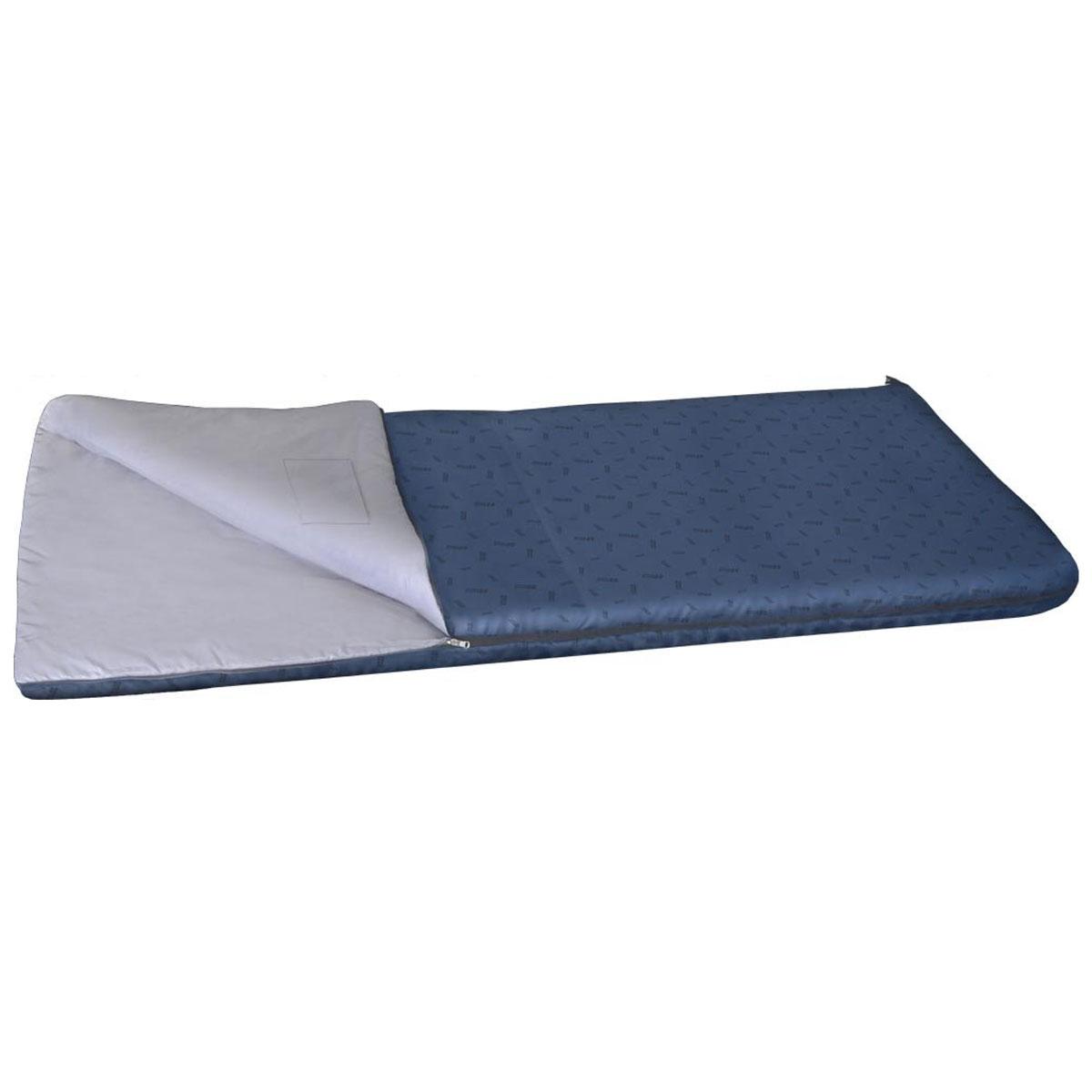 Спальный мешок-одеяло Nova Tour Валдай 300, цвет: синий, левосторонняя молния. 95210-402-0095210-402-00Спальный мешок Валдай 300 - это ваш первый спальник, отличный вариант для начинающего туриста. Если вам трудно определиться с условиями, в которых будет использоваться спальник, то Валдай 300 именно тот вариант, универсальный, недорогой и надежный. Купив спальный мешок Валдай 300, вы получаете полноценный отдых без особых материальных затрат. Температурные характеристики этого спальника предполагают его использование в теплое время года. Два слоя новейшего утеплителя улучшенной серии Thermofibre-S-Pro, легкая ткань верха Polyester 100% и отсутствие дополнительного подголовника обеспечили низкий вес спальника Валдай 300 и небольшие размеры в свернутом виде. Спальник компактно упаковывается в компрессионный мешок. Благодаря двухзамковой молнии, имеется возможность состегнуть два спальника в один двойной, для совместного, еще более комфортного отдыха. Ткань верха: Polyester 100%. Внутренняя ткань: Polyester 100%.