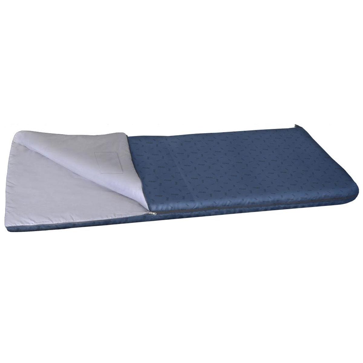 Спальный мешок NOVA TOUR Валдай 450, левосторонняя молния, цвет: синий95211-402-00Комфортный демисезонный спальный мешок NOVA TOUR Валдай 450, трансформирующийся при необходимости в теплое одеяло. Спальный мешок серии весна-осень, конструкции одеяло с синтетическим наполнителем. Для уменьшения веса изготавливается без подголовника. Благодаря двухзамковой молнии, имеется возможность состегнуть два спальника в один двойной. Для сушки и проветривания изделия предусмотрены две петли в нижней части мешка. Компрессионный мешок в комплекте.