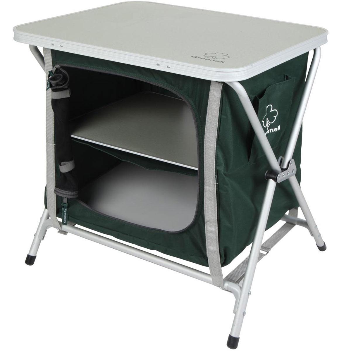 Стеллаж складной Greenell FR-5S, цвет: зеленый. 95223-303-0095223-303-00Складной стеллаж пригодится для отдыха на природе. Стеллаж незаменим для отдыха на свежем воздухе, во время выездов к озеру, в лес с палаткой, на пикники. Любителю отдыхать на природе полезно иметь в багажнике компактный складной стеллаж Greenell FR-5S. В комплекте удобный чехол-сумка для переноски и хранения. Максимальная нагрузка: 30 кг.