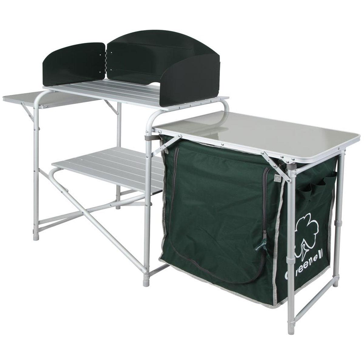 Стол кухонный складной Greenell FT-7KR95226-303-00Складной кухонный стол - незаменимая вещь для отдыха на даче или выходных на природе. Готовить пищу превращается в приятный отдых, когда все под рукой, даже в походных условиях. Каждый любитель отдыха на свежем воздухе оценит практичность складного стола FT-7KR от Greenell.