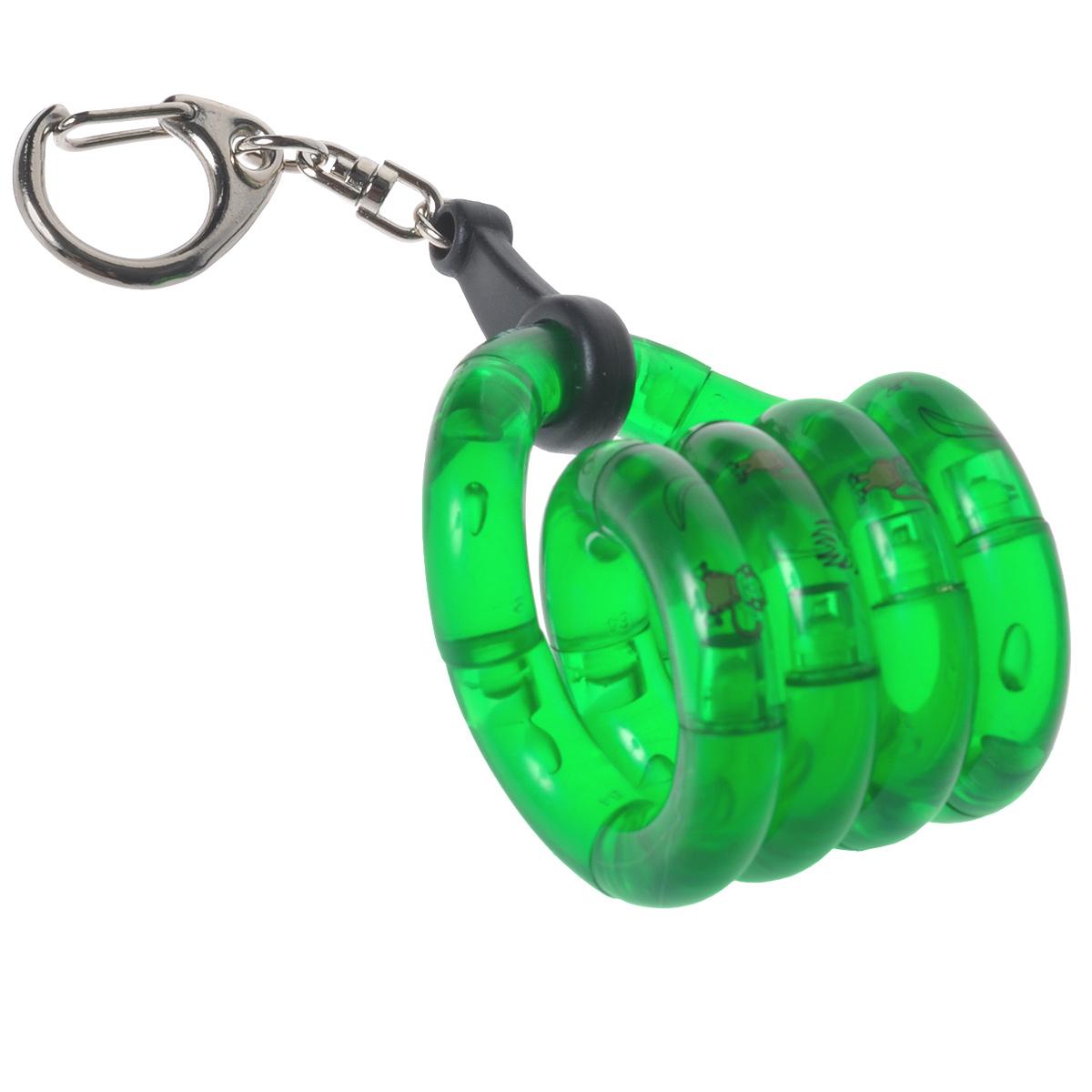 Змейка-брелок Tangle. Юниор, цвет: зеленыйТГ12568/greenЗмейка-брелок Tangle станет полезным подарком не только ребенку, но и взрослому. Пластиковая змейка скручивается в любую форму. Дополнена змейка кольцом с карабином для ключей. Игра со змейкой развивает воображение и внимательность, а также способствует развитию мелкой моторики рук.