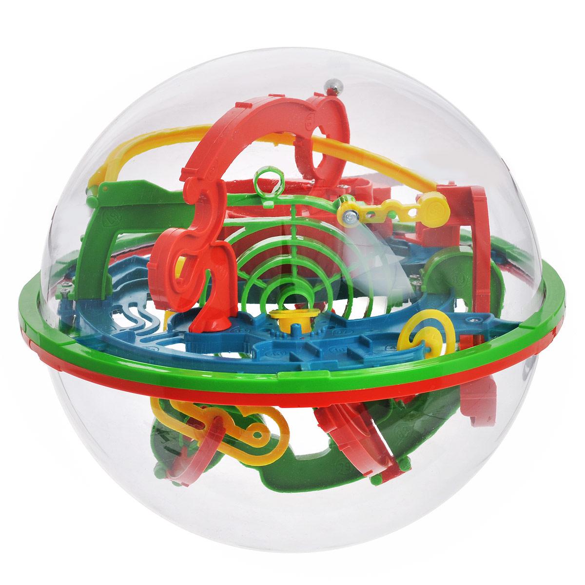 3D-головоломка Maze Ball, 100 барьеров, 20 смHF-923A3D-головоломка Maze Ball на 100 барьеров выполнена в ярких цветах в виде мяча-головоломки, который заинтересует внимание не только ребенка, но и взрослого. Задача заключается в том, чтобы поворачивая сферу, заставить шарик внутри нее двигаться вперед по желобам в порядке нумерации. Нужно добраться до финиша за максимально короткое время. 3D-головоломка Maze Ball помогает развить навыки работы с объектами, логическое мышление, чувство равновесия и восприятие пространства. Спокойствие - главный залог выигрыша. Не теряйте терпения, иначе никогда не добьетесь результата. Используйте ваше пространственное воображение на 100% и внимательно изучайте характеристики каждого барьера. Изменяйте положение интеллектуального шара, чтобы внутренний шарик всегда оставался на горизонтальной поверхности. Так вы шаг за шагом будете продвигаться к победе.