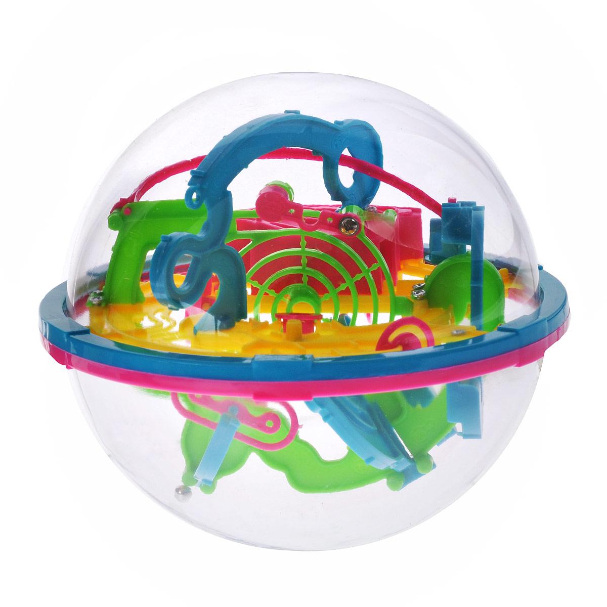 3D-головоломка Maze Ball, 100 барьеров, 13 смHF-929A3D-головоломка Maze Ball на 100 барьеров выполнена в ярких цветах в виде мяча-головоломки, который заинтересует внимание не только ребенка, но и взрослого. Задача заключается в том, чтобы поворачивая сферу, заставить шарик внутри нее двигаться вперед по желобам в порядке нумерации. Нужно добраться до финиша за максимально короткое время. 3D-головоломка Maze Ball помогает развить навыки работы с объектами, логическое мышление, чувство равновесия и восприятие пространства. Спокойствие - главный залог выигрыша. Не теряйте терпения, иначе никогда не добьетесь результата. Используйте ваше пространственное воображение на 100% и внимательно изучайте характеристики каждого барьера. Изменяйте положение интеллектуального шара, чтобы внутренний шарик всегда оставался на горизонтальной поверхности. Так вы шаг за шагом будете продвигаться к победе.