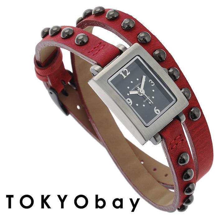 """Часы женские наручные Tokyobay """"Armor"""", цвет: красный, стальной. TL753-RD"""