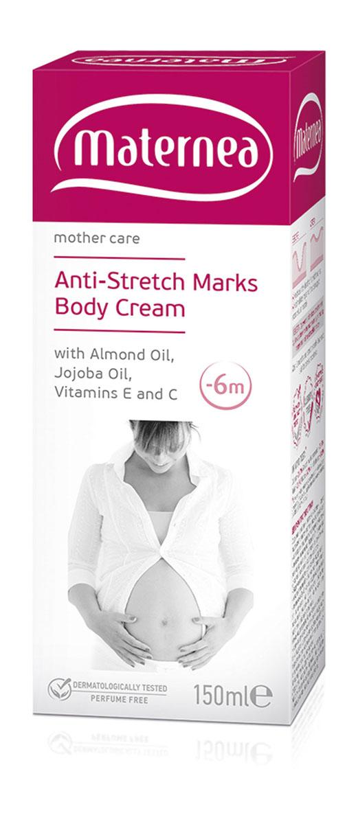 Maternea Крем от растяжек Anti-Stretch Marks Body Cream, 150 мл300064Крем от растяжек Maternea Anti-Stretch Marks Body Cream - гипоаллергенный, прошедший дерматологические испытания, с ультра-легким натуральным ароматом, без добавления парфюма, специально разработанный для беременных и кормящих матерей, гарантированно безопасный для малыша. Формула крема от растяжек Maternea содержит специально подобранные натуральные активные вещества, растительные масла и витамины с высокой проникающей способностью, которые обеспечивают и поддерживают упругость кожи, глубоко ее увлажняют и защищают, сохраняя ее гладкость и мягкость. Активные ингредиенты: Специализированный комплекс активных веществ Regestril имеет клинически доказанное действие и стимулирует регенерацию клеток в глубоких слоях кожи, там, где образуются растяжки, ускоряет восстановительные процессы и активизирует производство коллагена и эластина. Так он предупреждает появление растяжек и активно редуцирует уже образовавшиеся. Об упругости и комфорте кожи в эти месяцы, заботятся...