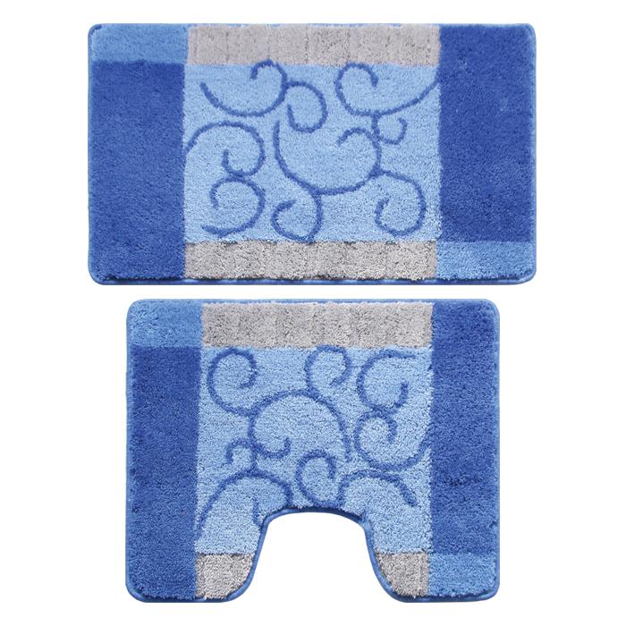 Набор ковриков для ванной комнаты Milardo Fine Lace, 2 шт350PA68M13Набор Milardo Fine Lace включает два коврика для ванной комнаты: прямоугольный и с вырезом. Коврики изготовлены из полиэстера и акрила. Это экологически чистый, быстросохнущий, мягкий и износостойкий материал. Красители устойчивы, поэтому рисунок не потеряет цвет даже после многократных стирок в стиральной машине. Благодаря латексной основе коврики не скользят на полу. Края изделий обработаны оверлоком. Можно использовать на полу с подогревом. Рекомендации по уходу: - Разрешена стирка в стиральной машине при температуре 40°С при щадящем режиме отжима. - Нельзя гладить. - Нельзя отбеливать. - Химчистка запрещена.