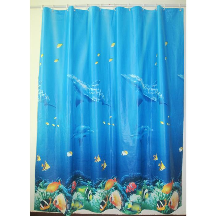 Штора для ванной комнаты Milardo Ocean Floor, 180 см х 180 см. 520V180M11520V180M11Штора для ванной комнаты Milardo, изготовлена из PEVA - водонепроницаемого, прочного эластичного материала, без запаха. Штора декорирована изображением морского дна с рыбками и дельфинами. Штора быстро сохнет, легко моется (протирать мягкой тканью, смоченной в мыльном растворе) и обладает повышенной износостойкостью, устойчивым красителям и эластичным свойствам. Вверху предусмотрены металлические люверсы. В комплекте также имеется 12 пластиковых колец. Штора для ванной Milardo порадует вас своим ярким дизайном и добавит уюта в ванную комнату. Нельзя стирать в стиральной машинке. Нельзя гладить.