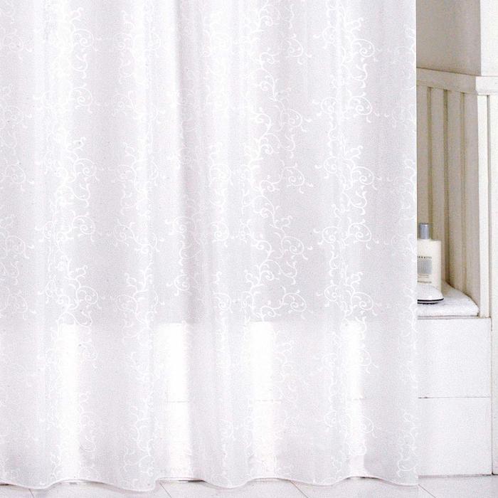 Штора для ванной комнаты Milardo Winter Leaf, 180 х 200 см SCMI081PSCMI081PШтора для ванной комнаты Milardo, изготовлена из полиэстера с водоотталкивающей пропиткой, декорирована витиеватым рисунком. Штора быстро сохнет, легко моется (разрешена деликатная стирка в стиральной машине при температуре 30°С без отжима) и обладает повышенной износостойкостью, благодаря двойной обработке краев и устойчивым красителям. Вверху предусмотрены металлические люверсы. В комплекте также имеется 12 пластиковых колец. Штора для ванной Milardo порадует вас своим ярким дизайном и добавит уюта в ванную комнату.