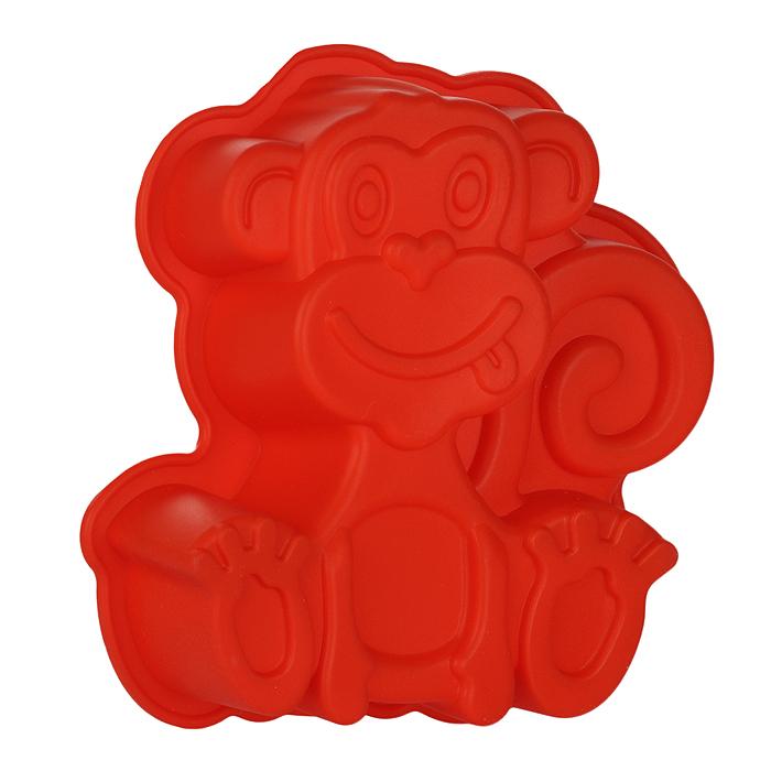 Форма для выпечки Обезьяна, цвет: красный. 842-023842-023Форма для выпечки Обезьяна изготовлена из силикона красного цвета - материала, который выдерживает температура от -22°С до +250°С. Изделия из силикона очень удобны в использовании: пища в них не пригорает и не прилипает к стенкам, легко моется. Изделие обладает эластичными свойствами: складывается без изломов, восстанавливает свою первоначальную форму. Подходит для приготовления в микроволновой печи и духовом шкафу при нагревании до +250°С; для замораживания до -22°С и чистки в посудомоечной машине. Рекомендации по использованию: - не помещайте форму непосредственно на источник тепла (открытый огонь, гриль), - не используйте нож для резки продуктов в форме, - не используйте для чистки абразивные средства, скребки и щетки. Характеристики: Материал: силикон. Цвет: красный. Размер формы: 19 см х 17 см. Изготовитель: Китай.