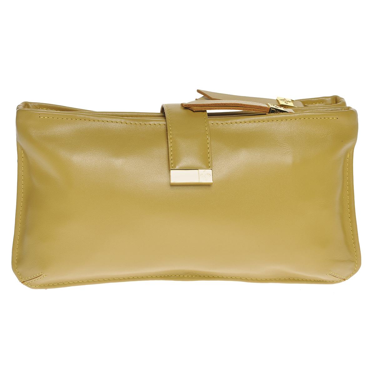 Сумка-клатч женская Dimanche Bowling Bag, цвет: горчичный. 435/41/R435/41/RСтильная женская сумка-клатч Dimanche Bowling Bag выполнена из натуральной высококачественной кожи, закрывается хлястиком на кнопке-магните. Сумка состоит из трех отделений: два из которых на застежках-молниях, и отделение без молнии. Внутри отделений на застежках-молниях - по одному дополнительному кармашку. Сумка оснащена удобным плечевым ремнем регулируемой длины. Сумка упакована в фирменный текстильный мешок. Женская сумка от Dimanche подчеркнет вашу яркую индивидуальность и сделает образ завершенным.
