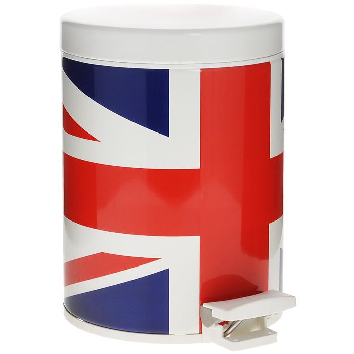 Ведро для мусора Brabantia Английский флаг, с педалью, 5 л479762Ведро для мусора Brabantia изготовлено из высококачественной нержавеющей стали с изображением британского флага (Union Jack). Материал изделия обладает устойчивостью к коррозии, долговечностью и прочностью. Ведро оснащено педалью, с помощью которой открывается крышка. Крышка закрывается абсолютно бесшумно. Внутри содержится съемное пластиковое ведро с металлической ручкой. Это поможет содержать ведро в чистоте и предотвратит распространение неприятного запаха. На дне имеется пластиковая вставка, предотвращающая повреждение напольных покрытий. В комплекте - 5 пакетов для мусора объемом 5 л.