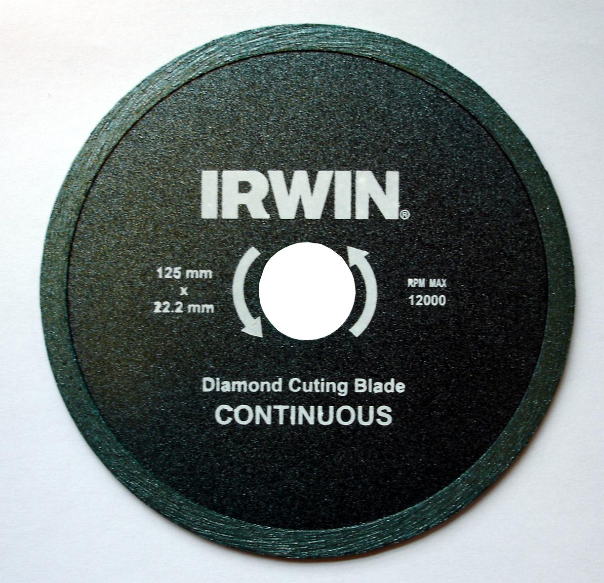 Диск алмазный сплошной Irwin Continious, мокрая резка, 200 / 25,4/22,2 мм10505938