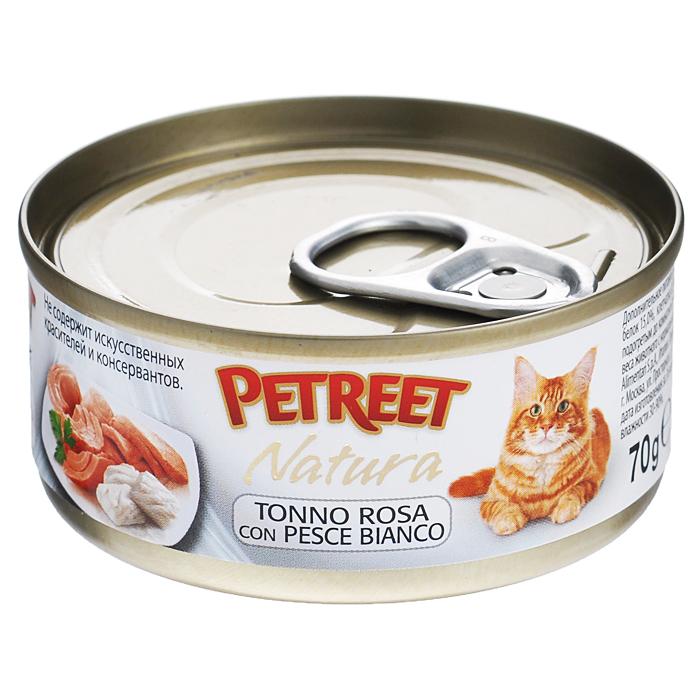 Консервы для кошек Petreet Natura, с кусочками розового тунца и рыбой дорада, 70 гА53067Полноценный сбалансированный корм для взрослых кошек всех пород. Консервы Petreet в виде нежного паштета изготовлены исключительно из натуральных продуктов и не оставят равнодушным ни одного питомца. В их состав входит до 64% основного компонента - мяса тунца, а это значит, что продукт богат протеином - источником бодрости вашей кошки. Для поддержания здоровья внутренних органов и зрения в состав консервов входит аргинин, таурин и незаменимые жирные кислоты Омега 3 и Омега 6. При умеренной калорийности в корме содержится высокий уровень белка (15%). Уникальный высокоусвояемый полноценный гипоаллергенный рацион с низким показателем зольности (0,5%). Идеально подходит для кастрированных и стерилизованных кошек. Состав: тунец (60%), рыба дорада (4%), рисовая мука (1%), витамины А, D3, Е. Анализ: влажность - 84,0%, белок - 15,0%, клетчатка - 0,3%, жир - 1,6%, зола - 0,5%, витамин А - 666 МЕ/кг, витамин D3 - 50 МЕ/кг, витамин Е - 20 МЕ/кг. Вес 70 г. Товар...