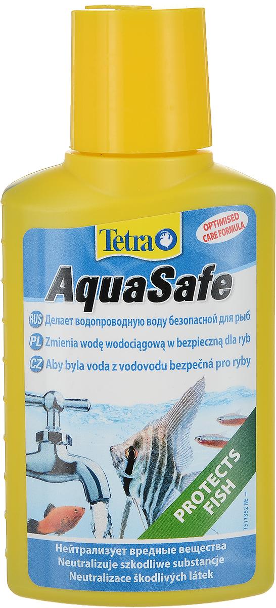 Кондиционер Tetra AquaSafe для подготовки воды аквариума, 100 мл762732Препарат Tetra AquaSafe для подготовки водопроводной воды в воду, пригодную для обитания аквариумных рыб. В состав входит формула BioExtract для здоровой прозрачной воды! новая формула помогает создать здоровую воду и обеспечить здоровье рыб за счет уникального сочетания природных биополимеров и микроэлементов; нейтрализует вредные для рыб вещества, содержащиеся в водопроводной воде. Хлор распадается, а такие тяжелые металлы как медь, цинк и свинец непрерывно и долгосрочно связываются; добавляет жизненно важные вещества, находящиеся в естественной среде обитания рыб, такие как йод, необходимый для активной жизнедеятельности рыб, магний, необходимый для роста и хорошего самочувствия, витамин В, помогающий справляться со стрессами; различные коллоидные вещества в полной степени обеспечивают защиту жабрам и плавникам; формула BioExtract, содержащая биополимерные вещества, обеспечивает рост полезных бактерий, что благоприятствует чистоте и прозрачности воды...