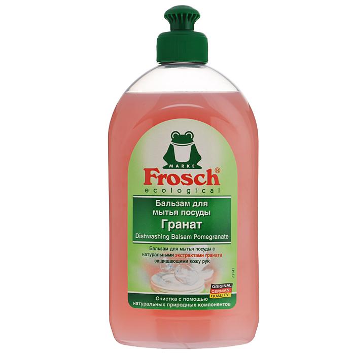 Бальзам для мытья посуды Frosch, с экстрактом граната, 500 мл101523Бальзам для мытья посуды Frosch защищает кожу рук и быстро удаляет грязь благодаря жирорастворяющим экстрактам граната. Особенности бальзама для мытья посуды Frosch: - до блеска отмывает посуду; - защищает кожу рук от высыхания; - смываемость соответствует ГОСТ; - формула Зеленой Силы с натуральными ингредиентами, подчеркивающими качество очистки и ухода; - с ПАВ возобновляемого растительного происхождения, с высоким быстрым биологическим расщеплением; - безопасные для кожи формулы, протестированные дерматологами. Минимальное использование мягких консервантов и тщательно отобранных ароматизаторов или полный отказ от них; - отсутствие опасных химикатов, таких как фосфаты, бораты, формальдегиды, галогенорганические компоненты, ПВХ; - сниженная нагрузка на окружающую среду благодаря сокращению использования упаковочных материалов. Прогрессивное использование переработанных и перерабатываемых материалов; - не тестируется...