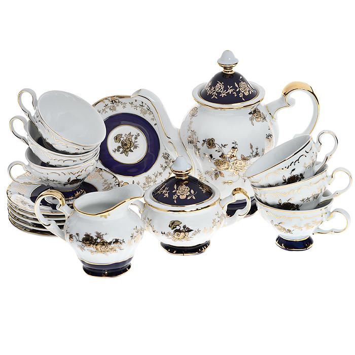 Сервиз чайный Bohmann, 17 предметов. 2817МА2817МАЧайный сервиз Bohmann состоит из шести чашек, шести блюдец, молочника, сахарницы с крышкой и заварочного чайника с крышкой. Предметы набора выполнены из высококачественного белоснежного фарфора и украшены элегантным узором. Оригинальное оформление придает сервизу легкость и изысканность. Современный фарфоровый сервиз с классическим рисунком - лучшее сочетание старины и классики в духе со временем. Фарфор Madonna прекрасно подойдет для украшения праздничного стола на любом торжестве, будь это семейный ужин или званый обед. Можно использовать весь сервиз, либо акцентировать праздничный стол его отдельными элементами.