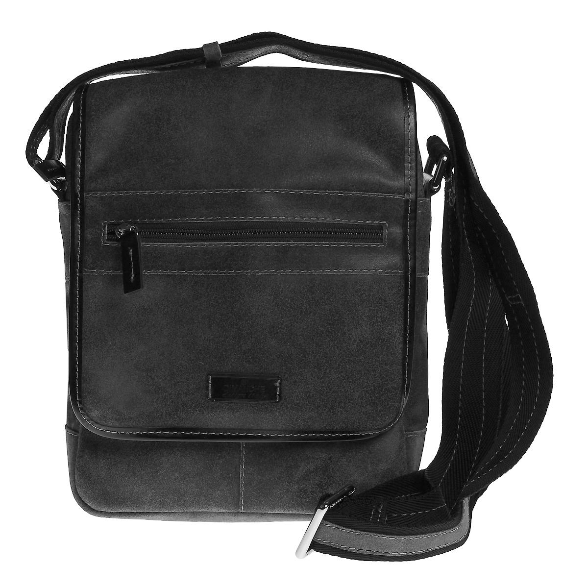 Сумка мужская Dimanche Кантри, цвет: серый. 879/36879/36Стильная мужская сумка через плечо Dimanche Кантри, выполненная из натуральной кожи, компактная, но в то же время функциональная. Удобная и эффектная сумка на каждый день. Модель имеет одно вместительное отделение, закрывающееся застежкой-молнией и дополнительно клапаном на магнитную кнопку. Под клапаном - плоский карман на застежке-молнии. На клапане - небольшой карман на застежке-молнии. Задняя сторона также дополнена карманом на застежке-молнии. Сумка дополнена регулируемым плечевым ремнем.