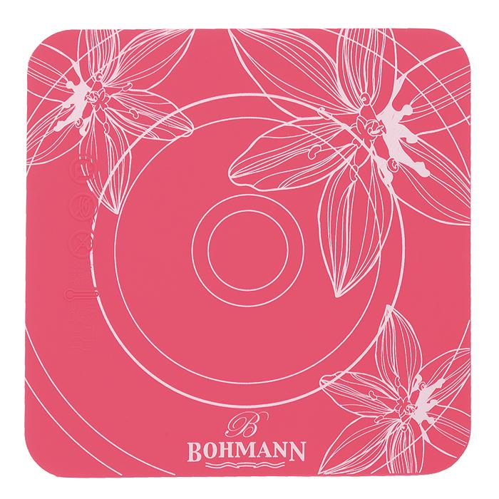 Подставка под горячее Bohmann, силиконовая, 15 см х 15 см02508BHПодставка под горячее Bohmann изготовлена из силикона, что позволяет ей выдерживать высокие температуры и не поцарапать поверхность стола. Материал не скользит по поверхности стола. Изделие нельзя мыть и сушить в посудомоечной машине. Каждая хозяйка знает, что подставка под горячее - это незаменимый и очень полезный аксессуар на каждой кухне. Ваш стол будет не только украшен яркой и оригинальной подставкой, но и сбережен от воздействия высоких температур.