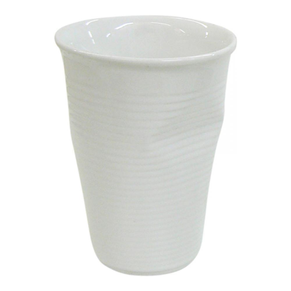 Мятый стаканчик керамический белый 0,24л080700GМятый стаканчик керамический белый 0,24л Характеристики: Материал: керамика. Размер: 8x8x11 см. Цвет: белый. Артикул: 080700G.