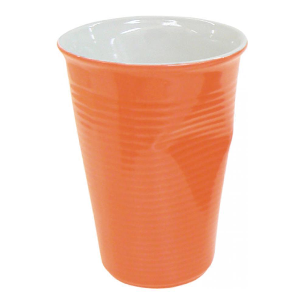 Стакан Ceraflame Мятый стаканчик, цвет: оранжевый, 240 мл080740GСтакан Ceraflame изготовлен из качественной керамики в форме мятого стакана. Керамика Ceraflame является экологически чистым продуктом. Кроме того, за счет своей прочности, на ее поверхности не будут появляться трещинки, которые зачастую приводят к развитию вредных бактерий. Этот стаканчик полностью безопасен не только для окружающей среды, но и для своего владельца, (выдерживает температуру до 350°С). Стаканчик подойдет для первоапрельской шутки или дружеского розыгрыша. Его всегда по достоинству оценят люди с хорошим чувством юмора, умеющие веселиться и вспоминать смешные моменты из своей жизни. Не использовать на открытом огне и не подвергать резким перепадам температур. Пригоден для использования в микроволновой печи. Можно мыть в посудомоечной машине.