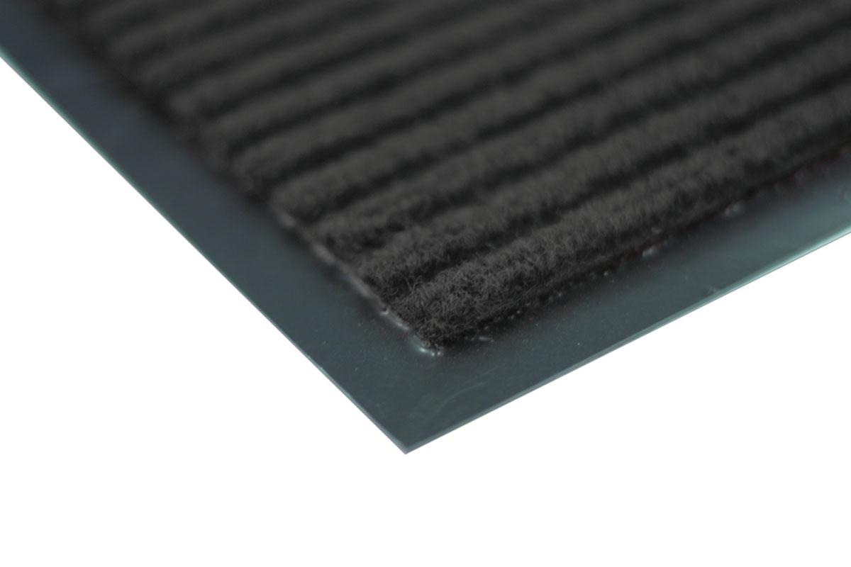 Коврик влаговпитывающий Vortex, ребристый, цвет: черный, 40 х 60 см
