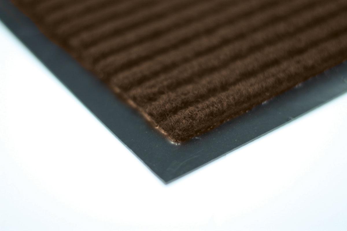 Коврик влаговпитывающий Vortex, ребристый, цвет: коричневый, 120 х 150 см22102Влаговпитывающий ребристый коврик Vortex выполнен из ПВХ и полиэстера. Он прост в обслуживании, прочный и устойчивый к различным погодным условиям. Предназначен для использования внутри и снаружи помещения. Лицевая сторона коврика мягкая и ребристая. Прорезиненная основа предотвращает его скольжение по гладкой поверхности и обеспечивает надежную фиксацию. Такой коврик надежно защитит помещение от уличной пыли и грязи.