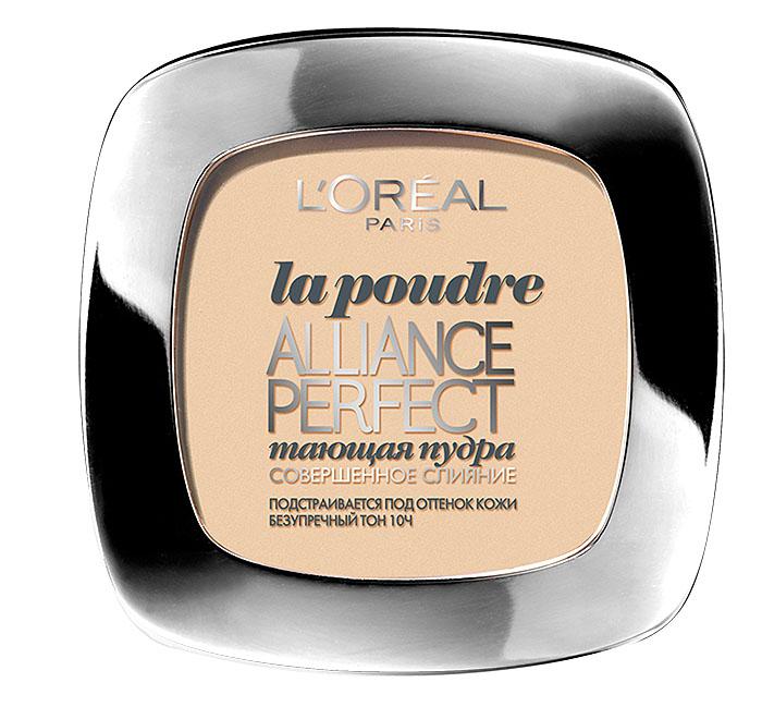 LOreal Paris Пудра Alliance Perfect, Совершенное слияние, выравнивающая и увлажняющая, оттенок D3, Светло-бежевый золотистый, 9 грA5937705Пудра Alliance Perfect Совершенное Слияние — это компактная пудра с моделирующим покрытием, которая идеально сливается с цветом и текстурой Вашей кожи, позволяет скрыть несовершенства. Без эффекта маски и без излишеств.