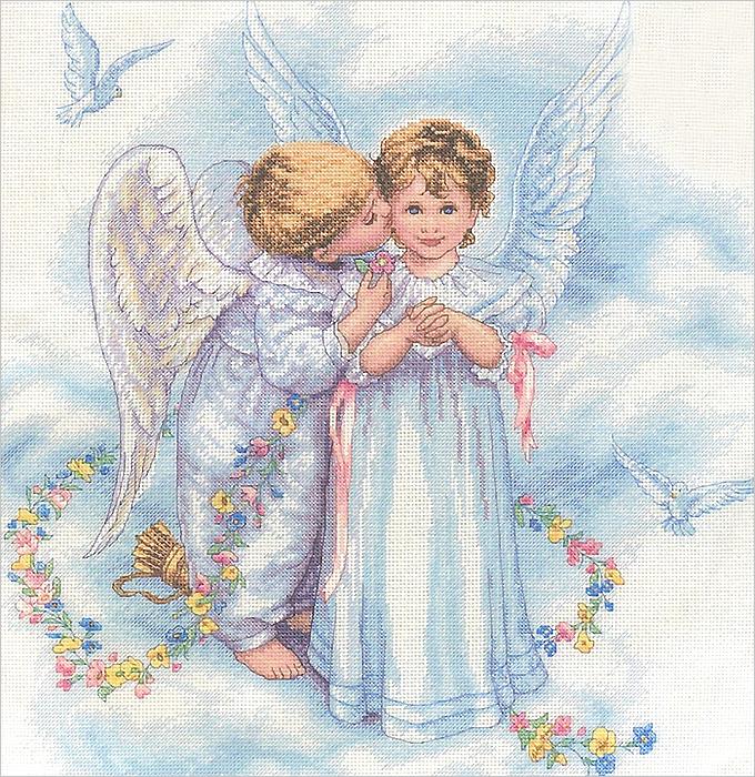 Набор для вышивания Dimensions Поцелуи ангела, 30 см х 30 см. 35134-DMS644486