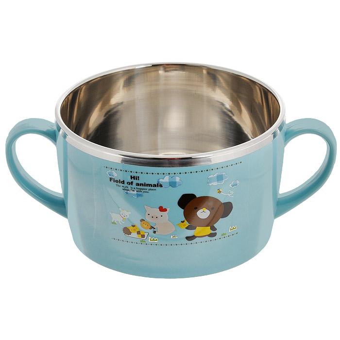 Миска для детей SunWoo Moka&Rose, цвет: голубой, 700 млSW3004иска для детей SunWoo Moka&Rose изготовлена из пищевого пластика голубого цвета. Внутренняя поверхность - из металла с зеркальной полировкой, благодаря чему очень легко чистится. Миска оснащена двумя удобными ручками. Прекрасно подходит для детей. Посуда фирмы «SunWoo» - это сочетание высокого качества и оригинального дизайна, выразившиеся в ее необычности и долговечности, что делают ее незаменимым Вашим помощником на кухне. - удлиненная форма корпуса (переход в ручку) предотвращает попадание пищи в место крепления ручки к корпусу; - ребристая поверхность (спиралевидные рассекатели) на внешней нижней поверхности дна посуды позволяет расширить площадь нагрева для поглощения большего количества тепла, в то время как рассекатели направляют пламя горелки непосредственно на поверхность дна и равномерно распределяют его; - канавки с каждой стороны...