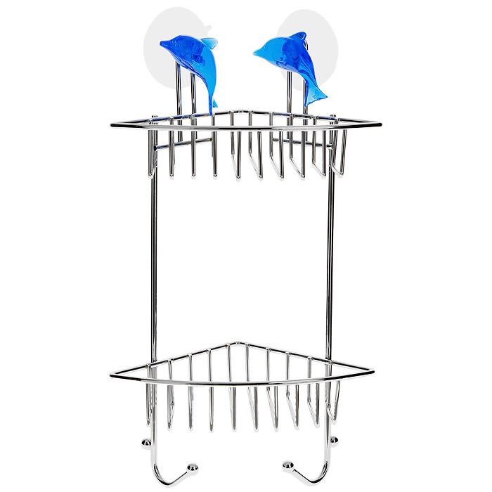 Полка угловая Tatkraft Blue Dolphin, 2-х ярусная, 19 х 33,5 х 13 см11199