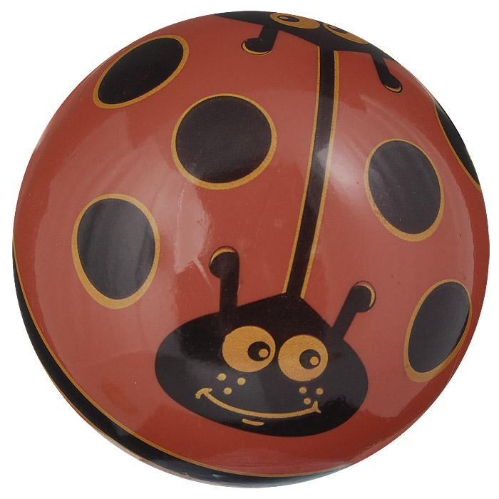 """Мяч Dema-still """"Божьи коровки"""", цвет: красный, черный, 11,5 см"""