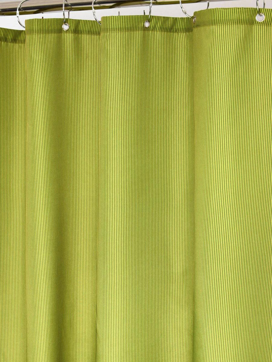 Штора для ванной White Fox Зеленый, с крючками, цвет: зеленый, 180 х 200 смWBCH10-114Штора для ванной White Fox Зеленый изготовлена из полиэстера с водоотталкивающей и антибактериальной пропиткой. В нижний край шторы вшит неметаллический утяжелитель змейка. Он не ржавеет, обладает большой гибкостью и не теряет своих свойств после стирки. Рисунок нанесен по специальной водозащитной технологии, позволяющей максимально долго сохранять первоначальные цвета. В комплект входит 12 крючков из нержавеющей стали. Крючки не требуют особого ухода, удобны для быстрого навешивания и снятия шторы с карниза. Шарики в верхней части крючка позволяют более плавно перемещать штору по карнизу. Штора и крючки составляют единую композицию, которая гармонично вписывается в интерьер ванной комнаты. Рекомендации по уходу: Штора удобна и проста в уходе. Ее можно стирать при температуре до 30°C и гладить при температуре до 110°C.