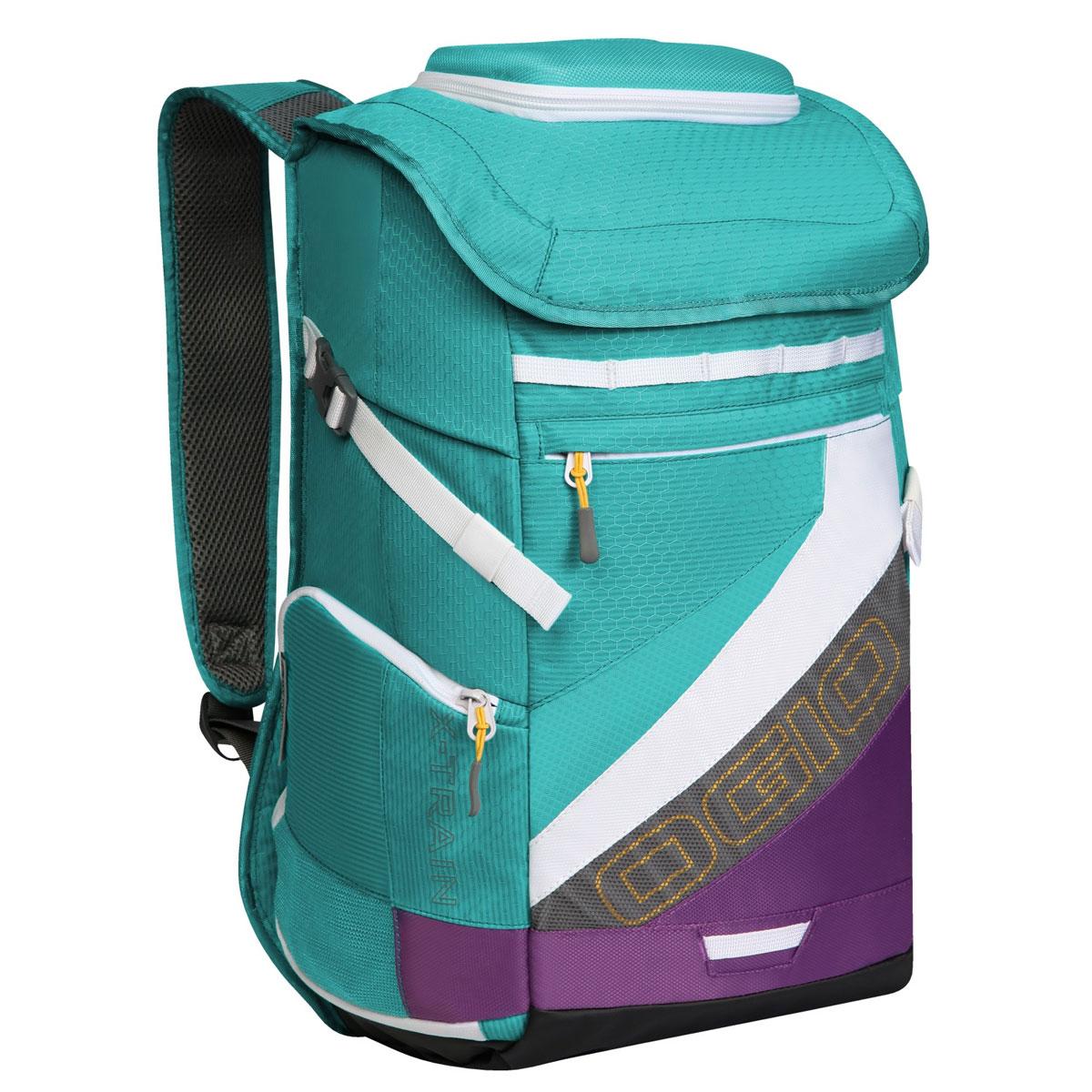Рюкзак спортивный OGIO X-Train, цвет: голубой, фиолетовый. 112039.377112039.377Спортивный рюкзак OGIO X-Train - это отличный помощник в вашей жизни. Он отлично подойдет для занятия спортом, фитнессом, туризмом, и для повседневной носки. Особенности: Удароустойчивый армированный карман. Отстегиваемая внешняя лямка для крепления шлема. Боковые ремешки для крепления полотенец или ковриков. Специальный отдел для хранения сухой/мокрой одежды или обуви в режиме тренировки или для iPad в режиме обучения. Высокопрочные и легкие материалы. Перегородка отделяет основное отделение от отделения для мокрой/сухой одежды или обуви. Особое покрытие отделения для мокрой/сухой одежды или обуви облегчает чистку. Эргономичные, регулируемые плечевые лямки, подбитые мягким материалом. Устойчивая к трению брезентовая основа. Встроенный полноразмерный карман для бутылки. Регулируемый нагрудный ремень. Объем: 23 л. Материал: Кросс-добби 420D, гекс-рипстоп 210D.