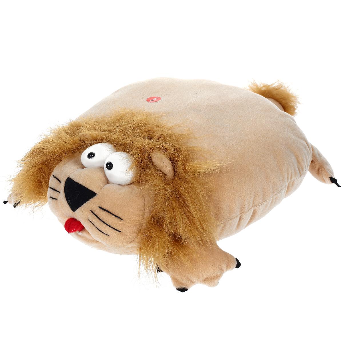 Мягкая озвученная игрушка-подушка Magic Bear Toys Лев, цвет: бежевыйSAF2005-ZF-M-3Очаровательная мягкая игрушка-подушка Magic Bear Toys Лев не оставит равнодушным ни ребенка, ни взрослого. Приятная на ощупь игрушка выполнена в виде милого льва с объемной головой, лапками и хвостом, туловище льва и является подушкой. Если нажать на подушку, то лев будет рычать. Такая игрушка-подушка прекрасно дополнит интерьер детской комнаты.