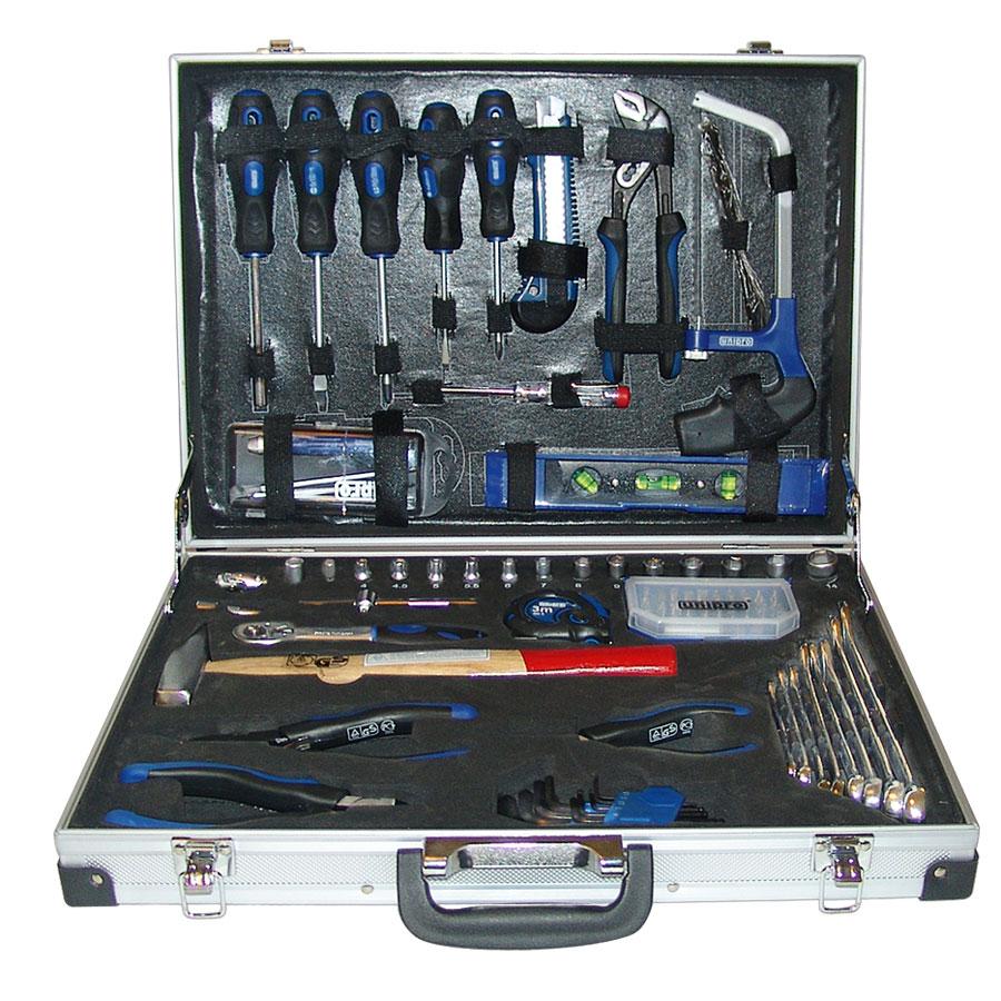 Набор инструментов Unipro, 70 предметовU-192Набор инструментов Unipro создан на основе нашего опыта в производстве данного вида продукции. Он включает в себя 70 предметов, которые умещаются в небольшом кейсе. Такой набор будет идеальным подарком мужчине. Состав набора: - бокорезы, 160 мм; - плоскогубцы с удлиненными губками, 160 мм; - плоскогубцы комбинированные, 180 мм; - переставные клещи, 200 мм; - тестер (пробник напряжения тока), 150 мм; - набор ключей торцевых, шестигранных со скругленными наконечниками 1,5 мм; 2 мм; 2,5 мм; 3 мм; 4 мм; 5 мм; 6 мм; 8 мм; 10 мм; - набор комбинированных ключей 6 мм, 8 мм, 10 мм, 12 мм, 13 мм, 14 мм, 17 мм, 19 мм; - разводной ключ, 250 мм; - выдвижной нож, 18 мм; - торцевые головки 1/4: 6 мм, 8 мм, 9 мм, 10 мм, 11 мм, 12 мм, 13 мм, 14 мм; - рулетка 5 м х 18 мм, класс II; - молоток слесарный 500 г; - реверсивный ключ трещотка 1/2; - отвертка с трещоточным механизмом; - набор бит 32 шт; -...