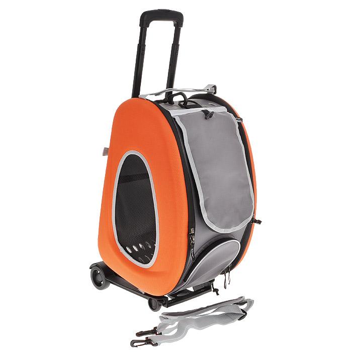Cумка-тележка для собак 3в1 Ibiyaya, до 8 кг, цвет: оранжевый, 34 см х 30 см х 58 см340924Невероятно удобный дизайн и стиль сумки тележки Ibiyaya 3 в 1 для собак до 8 кг поможет в путешествиях и прогулках вам и вашему питомцу. Многофункциональная, из прочного плотного материала, легко складывается и раскладывается, имеет объемный карман на молнии и вход на молнии с сетчатым окошком, закрывающийся накладкой на липучке, боковые стороны также имеют сетчатые окошки и овальные отверстия все это сумка-тележка. В сложенном виде это компактный кейс который занимает минимум места. Сумку можно использовать как рюкзак, как сумку через плечо и пристегивать как авто-кресло в автомобиле. Внутри имеется ремешок пристегивающийся к ошейнику, мягкая подстилка на липучках которую можно поменять на разовую пеленку. Дизайн сумки разработан с учетом последних модных тенденций и выгодно выделяет модель среди аналогичных товаров. Можно выбрать цвет: синий, оранжевый, лайм. В комплекте - инструкция с картинками по сборке сумки на русском языке. Полный размер: 58 см х 30 см...