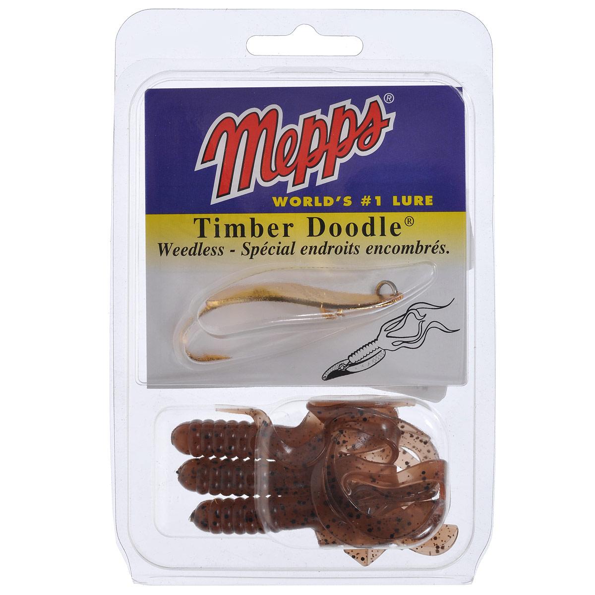 Блесна Mepps Timber Doodle OR, колеблющаяся, №0, 8 г4455С блесной Mepps Timber Doodle OR может ловить рыбу даже непрофессионал, даже в самых густых водных зарослях, поскольку она настоящая незацепляйка. Кроме того, у нее просто неотразимая игра, привлекающая, например, окуня или северную щуку. Она вибрирует при заглублении, поэтому подходит и для кастинга, и для троллинга. Блесна отделана золотом 24 пробы, крючки и соединяющие кольца изготовлены из нержавеющей стали. В комплект входят три приманки, внешне напоминающие сорняк. Блесна имеет несколько эффективных способов проводки, в том числе: ступенчатая, равномерная с подергиванием, равномерная в полводы с остановками и т.п. Колеблющаяся блесна подходит для ловли судака, щуки и окуня.