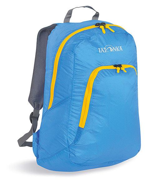 Городской рюкзак Tatonka Squeezy, цвет: голубой, 18 л. 2217.1942217.194Универсальный складной сверхлегкий рюкзак. Оснащен мягкими лямками, обтянутыми сеточкой и накладным карманом на молнии с держателем ключей. Squeezy изготовлен из очень легкого материала T-Rip Light с силиконовым покрытием и складывается во внутренний карман, превращаясь в аккуратную сумочку размером 13 см х 14 см х 5 см. При этом рюкзак имеет приличный объем и вполне комфортабелен при переноске. Особенности: Подвеска Padded Back. Материал T-Rip Light. Накладной передний карман. Мягкие лямки. Ручка для переноски. Складывается во внутренний карман малого объема. Держатель ключей. Объем 18 л.