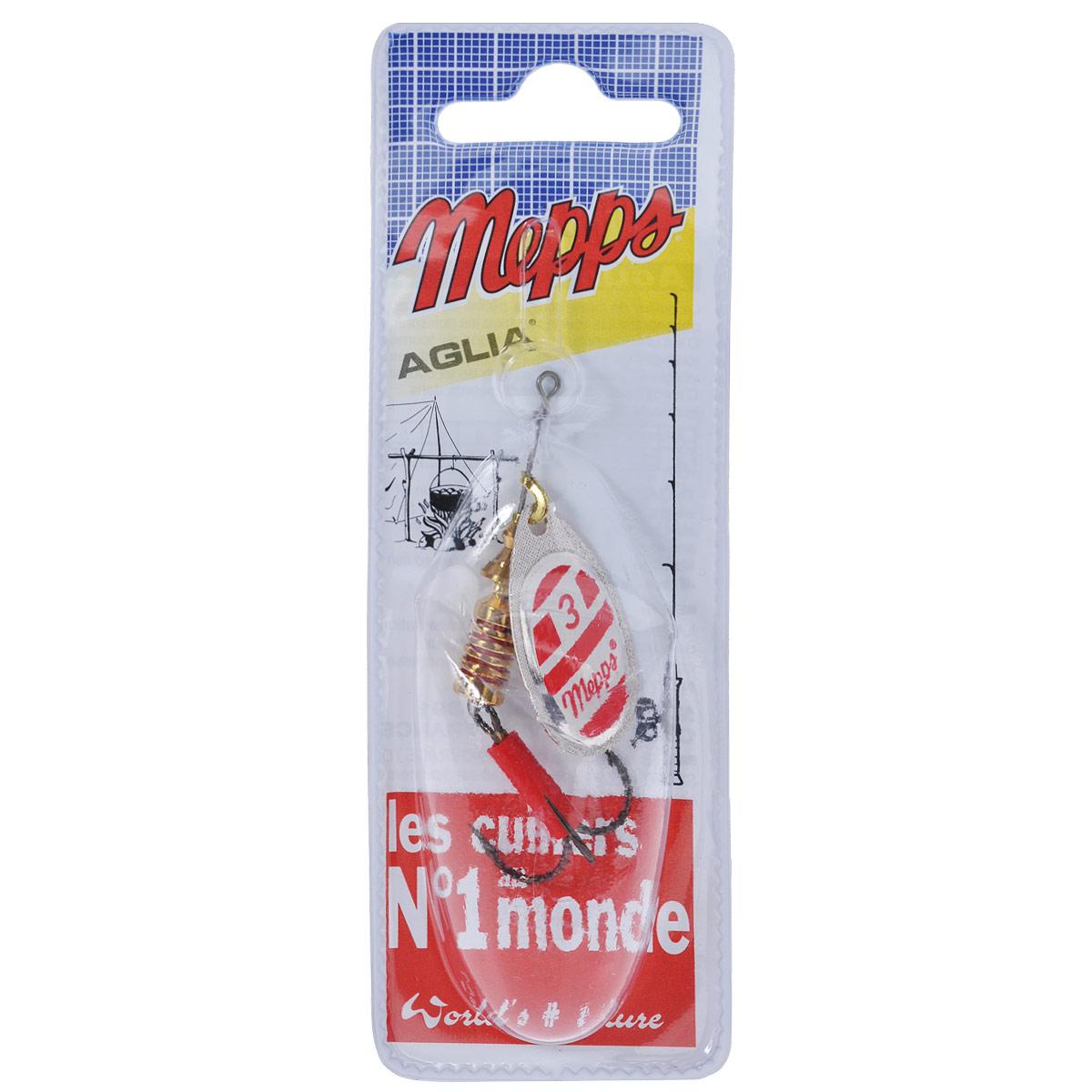 Блесна Mepps Aglia Blanc Rouge AG, вращающаяся, №3, 6,5 г5738Вращающая блесна Mepps Aglia Blanc Rouge AG - одна из первых блесен французского производства. При вращении угол отклонения лепестка от оси составляет 60°. Блесна в основном предназначена для водоемов со слабым течением, или «стоячей» водой. Благодаря своей превосходно выверенной механике, она начинает послушно вращаться, лишь только коснется воды. Конус вращения адаптируется к силе течения, что позволяет ей создавать вибрации, наиболее привлекательные для хищников. Обладает устойчиво-ровным движением (поведением) в воде - при различных способах и скоростях проводки. Блесна Mepps AGLIA - очень популярная классическая модель. Рекомендуется при ловле форели, окуня, голавля, жереха, язя, как крупных, так и меньшего размера.