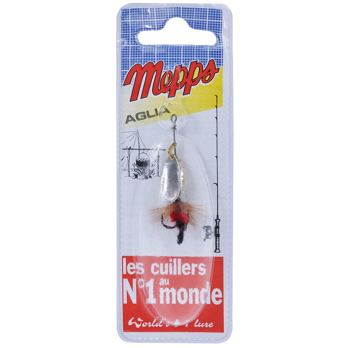 Блесна Mepps Aglia AG Mouch. Rouge, вращающаяся, №005743Вращающаяся блесна Mepps Aglia AG Mouch. Rouge оснащена мушкой из натурального беличьего хвоста, это очень эффективные приманки для ловли жереха, голавля, язя, окуня и других видов рыб, особенно в периоды массового вылета насекомых. Aglia Mouche - некрупная блесна, которая особенно подходит для летней ловли рыбы (особенно осторожной) на мелководье.