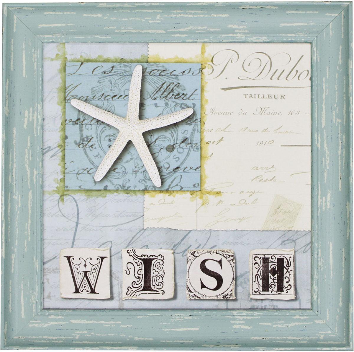 Постер в раме Postermarket Морская звезда, 30 х 30 смWA-05Картина для интерьера (постер) - современное и актуальное направление в дизайне любых помещений. Постер оформлен изображением морской звезды и надписью Wish. Рама выполнена из пластика светло-зеленого цвета с эффектом потертости. Картина защищена прозрачным пластиком. С задней стороны имеется петелька для подвешивания к стене. Картина может использоваться для оформления любых интерьеров: - дом, квартира (гостиная, спальня, кухня, прихожая, детская); - офис (комната переговоров, холл, кабинет); - бар, кафе, ресторан или гостиница. Картины, предоставляемые компанией Постермаркет: - собраны вручную из лучших импортных комплектующих; - надежно упакованы в пленку с противоударными уголками.